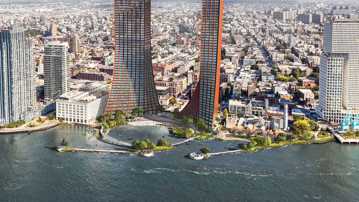 Bjarke Ingels Group (BIG) and New York-based office Field Operations have released their masterplan for Brooklyn's River Street Waterfront Masterplan which will be developed by Two Trees Management real estate company